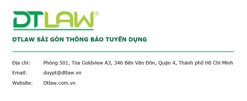 DT Law tuyển dụng Nhân viên Học viêc Nghề Luật Đợt 1 năm 2021 tại Thành phố Hồ Chí Minh