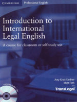 SÁCH TIẾNG ANH CHUYÊN NGÀNH LUẬT - Introduction to International Legal English